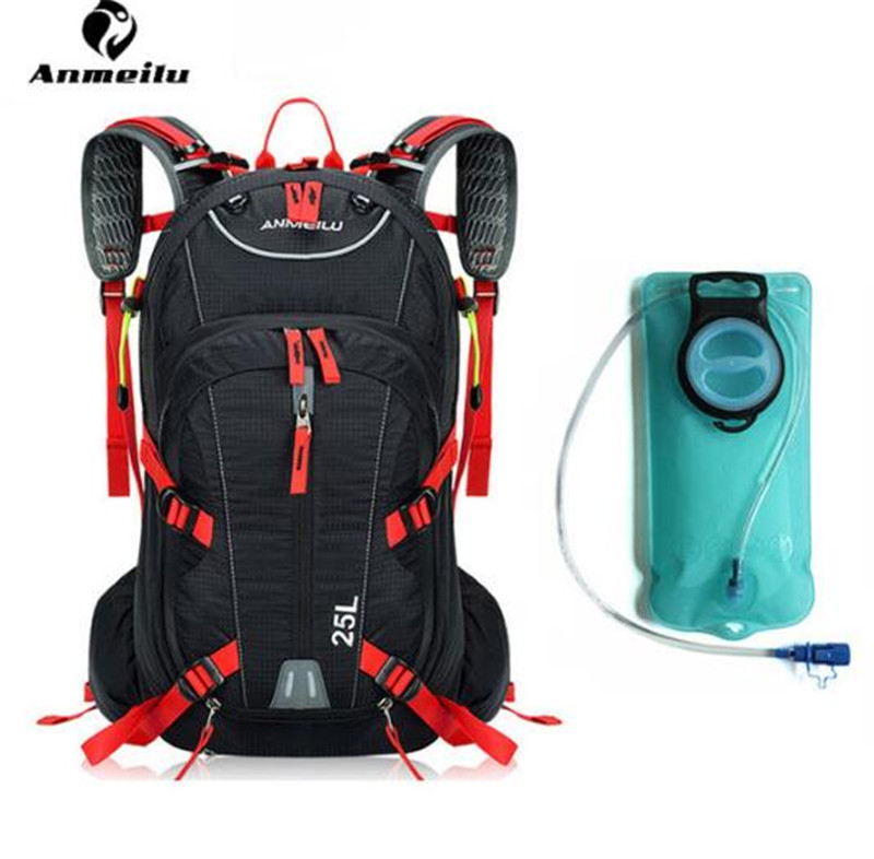 ANMEILU Water Bag Waterproof 25L Outdoor Sport Bag Camping Climbing Hiking Cycling Backpack Hydration Bladder Waterproof Outdoor anmeilu men women 8l outdoor sports water bag waterproof climbing camping hiking hydration bag cycling bicycle bike backpack