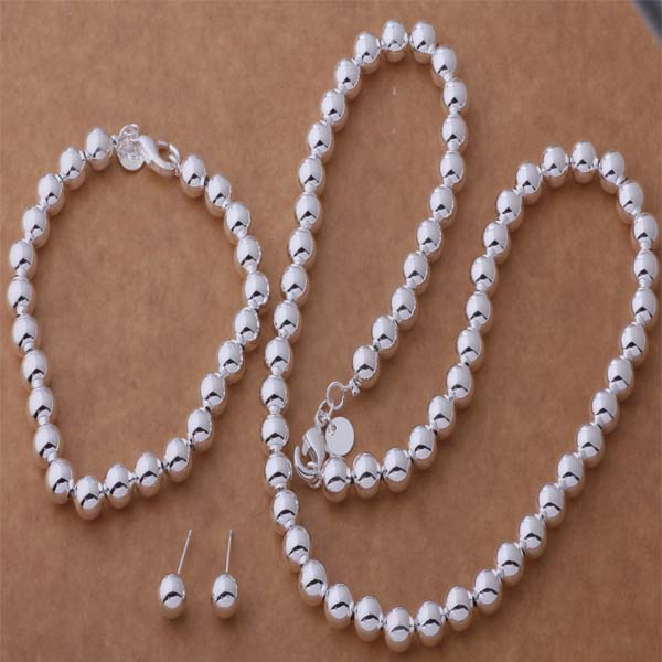 AS294 Hot 925 sterling silver Jewelry Set Kalung 650 + Gelang 272 + Earring 441 / alqajcxa asdajjka