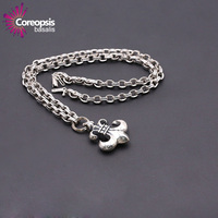 CÂY PHÒNG PHONG S925 sterling silver pendant necklace Sức bạc Thái bạc phong cách neo quân sự hoa tay áo chuỗi GD
