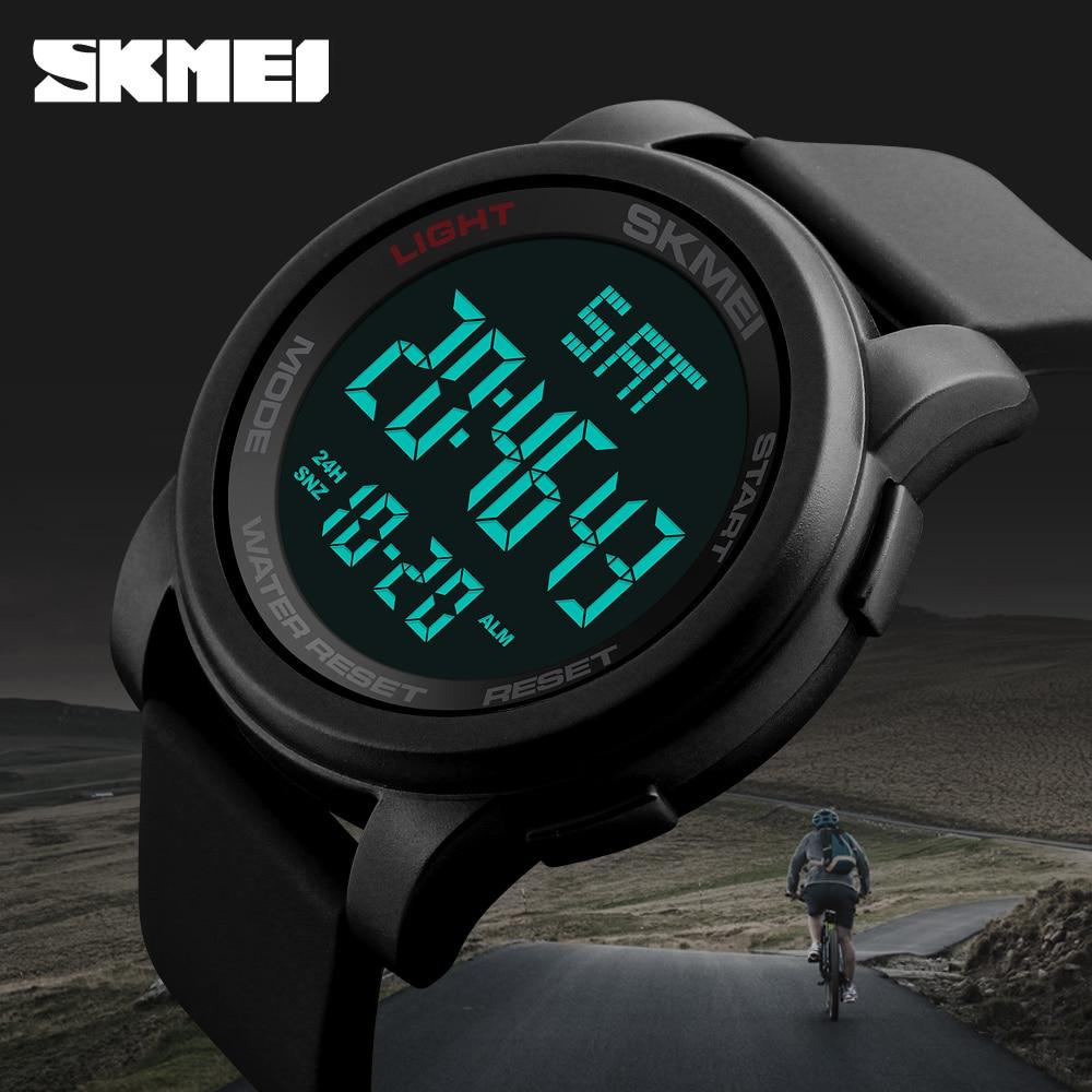 SKMEI Top Luxus Marke männer Sport Uhren Chrono Countdown-Männer LED Digital Uhren Mann Military Armbanduhren Relogio Masculino