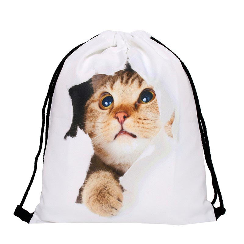 Drawstring Bag String Sack Bag Beach Polyester Girls Women Men Travel Storage Package Teenagers Lightweight Notebook Backpack