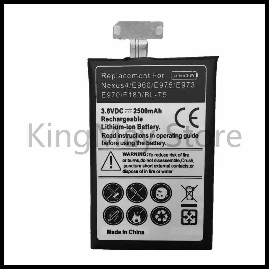 Батарея BL T5 BLT5 BL-T5 Перезаряжаемые Li-Ion Батарея для LG Nexus 4 Батарея E975 E973 E960 F180 LS970 Optimus G E970 Батарея