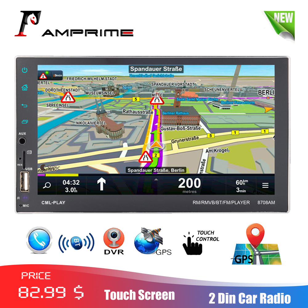 AMPrime 7 Android Autoradio 2 din GPS Navigation Car Multimedia Player Bluetooth FM Mirrorlink Auto Stereo With RearView CameraAMPrime 7 Android Autoradio 2 din GPS Navigation Car Multimedia Player Bluetooth FM Mirrorlink Auto Stereo With RearView Camera