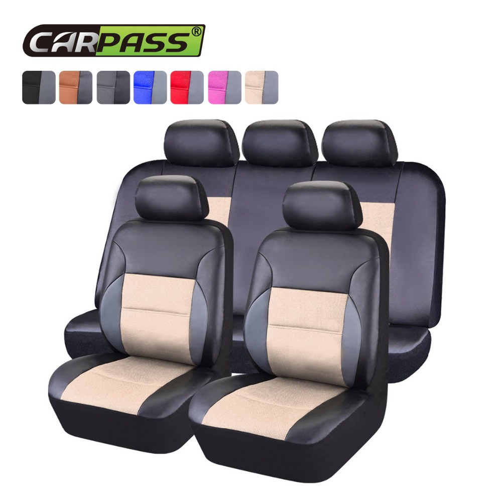 Car pass Universal Car Seat Cover Interior Accessories Airbag Compatible Automobile Seat Cover Breathable Fit Most Brand Vehicle