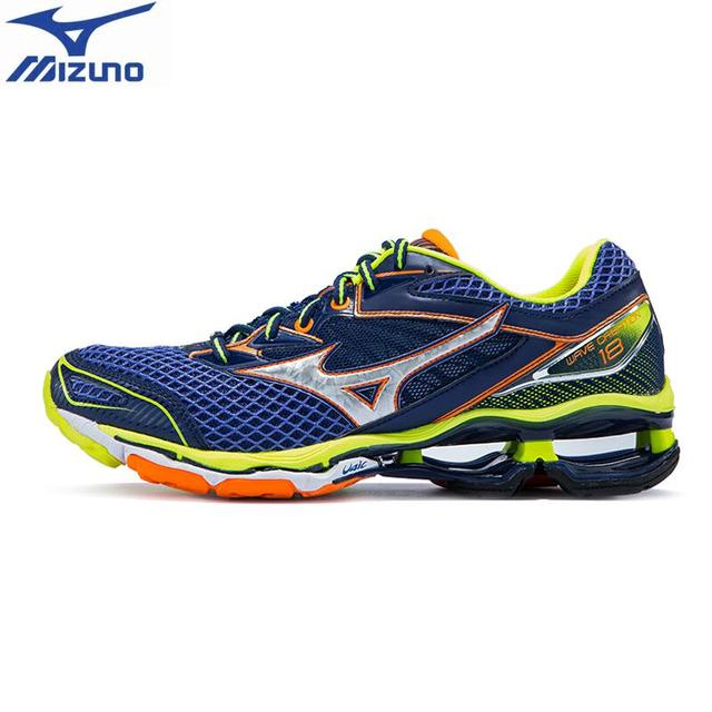 c81e4c8110 Original MIZUNO WAVE CREATION 18 Professional Running Shoes for men support  Cushion Sports Shoes Jogging Sneakers J1GR160182
