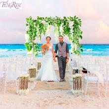 FENGRISE Wisteria Artificial flower For Wedding Decoration Bouquet Engagement Rustic Arch Deco Just Married
