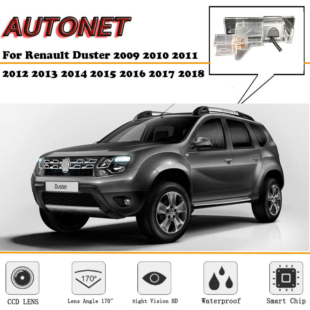 AUTONET Backup widok z tyłu kamera do Renault Duster 2009 2010 2011 2012 2013 2014 2015 2016 2017 2018 Night Vision/ kamera parkowania