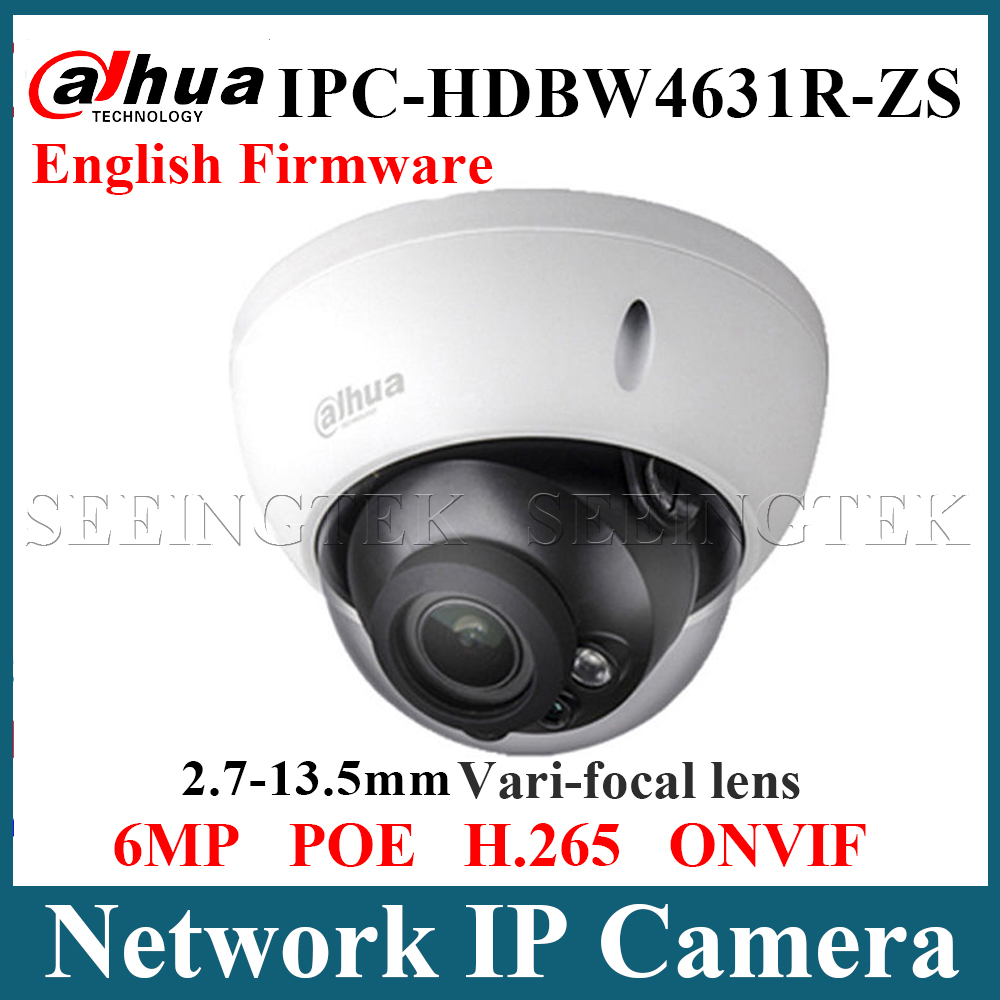 Dahua HD 6MP IP IK10 IP67 IR 50M IPC-HDBW4631R-ZS 2.7-13.5mm Motorized Lens SD Alarm POE camera replace IPC-HDBW4433R-ZS