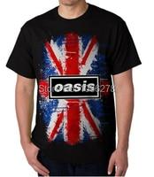 Newest Mens T Shirts Custom Oasis Logo Rock Band Printed T Shirts High Quality Cotton Fashion