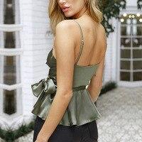 Femme Casual Vest Summer Sexy Silk Satin Ruffled Camisole Top Tank Women Slim Sexy Sleeveless Shirt Halter Tank Tops for Women