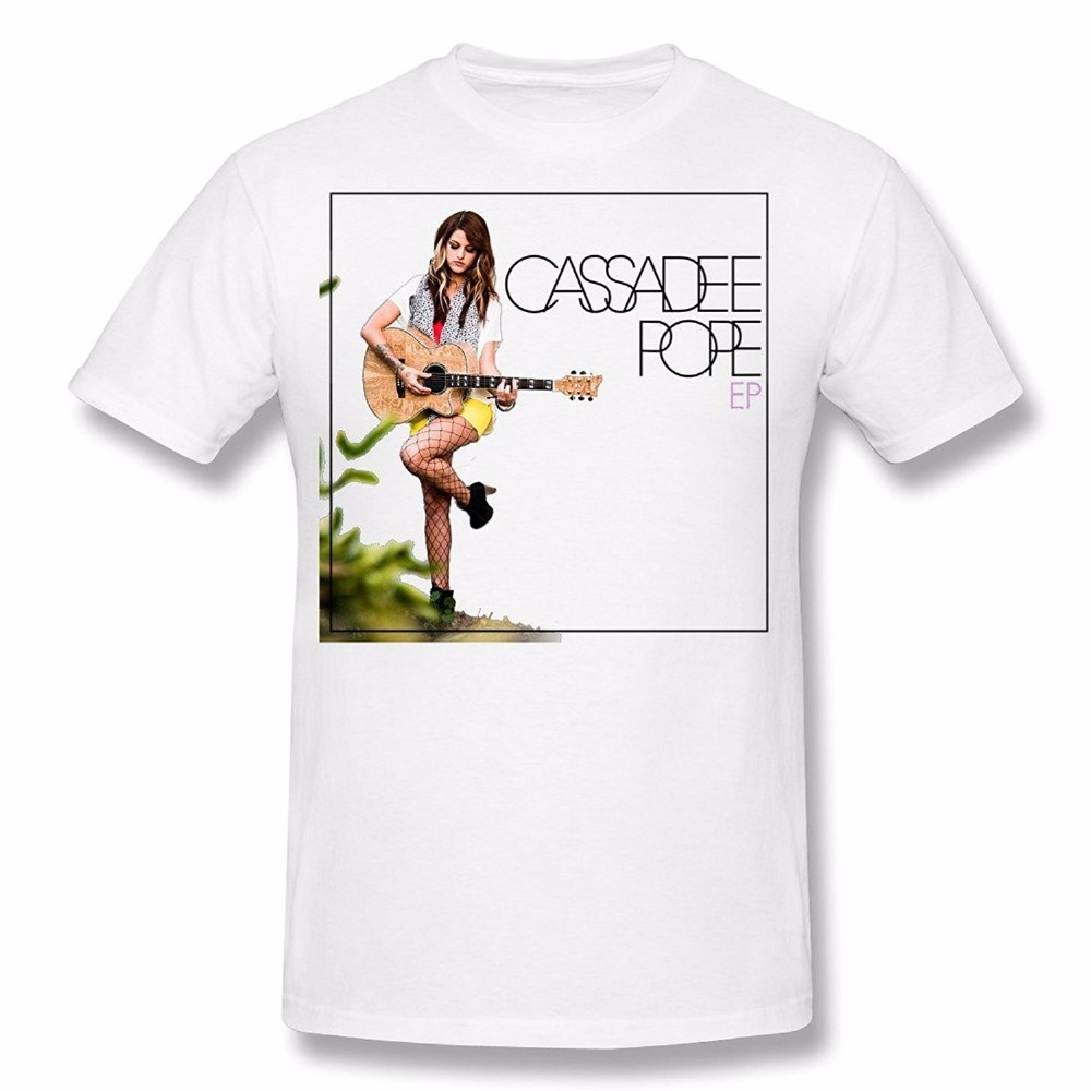 spreadshirt shop New Simple Style Creative Design Fashion Gaowee Men's Cassadee Pope Ep Men's O Neck Cotton T-shirt