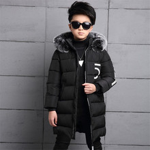 Kids Jackets 2017 Winter Baby Boys Jacket For Boys Outerwear Coat Parkas Children Warm Thicken Cotton-padded Clothes