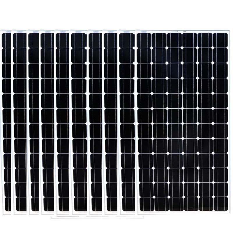 24v 200w Monocrystalline Solar Panel 10 Pcs Solar Home System 2000W 2KW Solar Charger Battery Caravan Car Camp LED Motorhome Rv колымские рассказы в одном томе эксмо