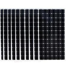 24v 200w Monocrystalline Solar Panel 10 Pcs Home System 2000W 2KW Charger Battery Caravan Car Camp LED Motorhome Rv