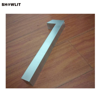 Digital House 1 Stainless Steel Material Silver Color Outside House Numbers