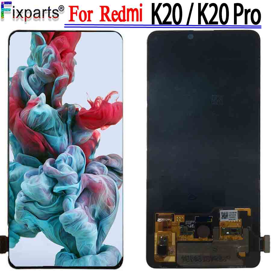 Super AMOLED Original pour Xiaomi Redmi K20 LCD écran tactile numériseur assemblée pièces de réparation Redmi K20 Pro écran LCD