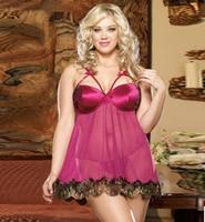Gratis verzending sexy lingerie sexy pyjama nachthemd strip support schouderstuk