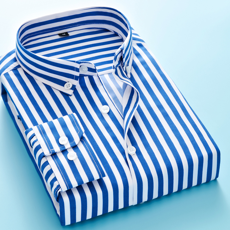 Business Striped Casual Long Sleeved Shirt
