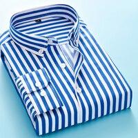 bc7416940c 2019 Mens Business Casual Long Sleeved Shirt Men M 5XL Plus Size Shirt  Classic Striped Male