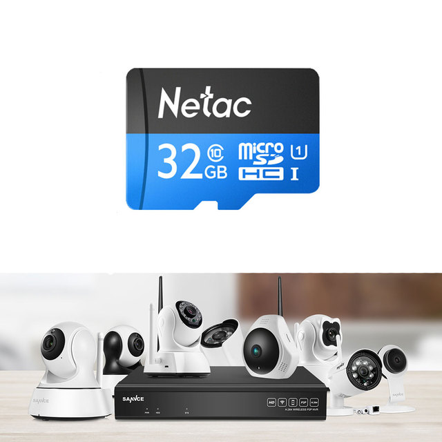 Professional 16/32/64/128GB Micro Sd Card For SANNCE 720P 960P 1080P IP Cameras For Local Video Storage