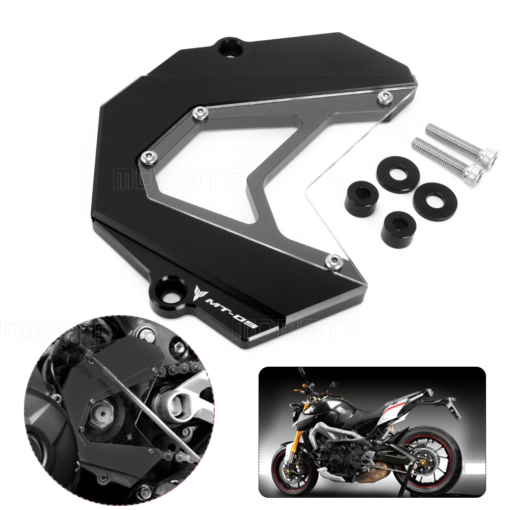 Motorcycle accessories CNC Engine Guard Front Sprocket Guard Chain Motos Cover For Yamaha MT09 FZ9 2013 2014 2015 2016 2017 for yamaha mt 07 fz 07 mt07 fz07 2014 2016 motorcycle accessories cnc aluminum engine protector guard cover frame slider blue
