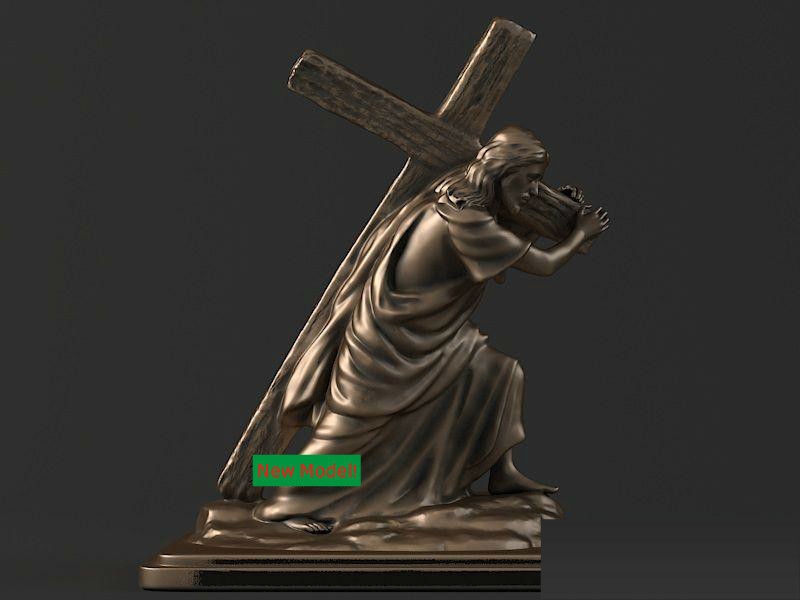3D Model Stl Format For Cnc Machine Jesus Cross
