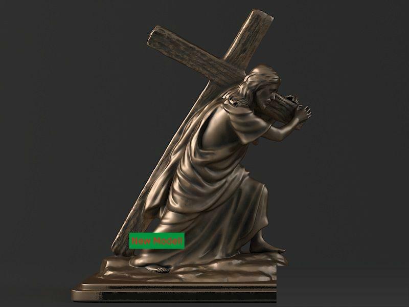 3D model stl format for cnc machine Jesus Cross3D model stl format for cnc machine Jesus Cross