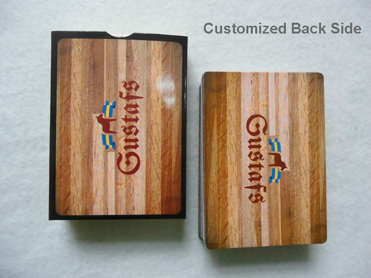 PC02, 0.3mm PVC Cards Customized Full Color Printed Front & Back Side Playing Card 500pcs/lot