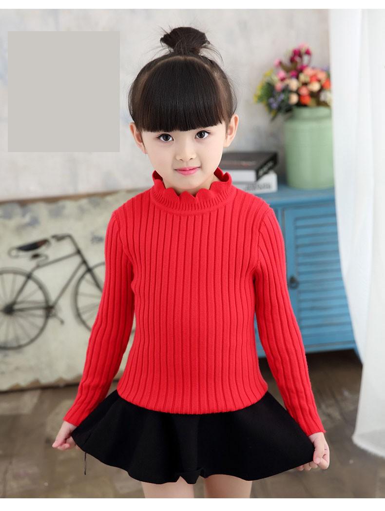 knitting big baby girls sweaters kids winter sweater 2016 long sleeve tops knitted kids sweaters girls pink green black kids top (17)