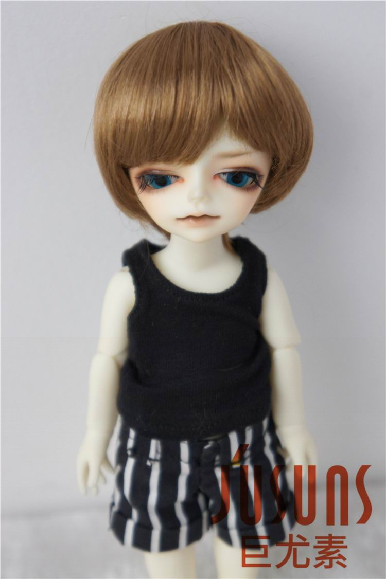D28053 1/12 tiny doll wigs 4-5 inch Enfant Short BJD wigs Synthetic Mohair doll accessories jd145 msd synthetic mohair doll wigs 7 8inch long curly bjd hair 1 4 doll accessories