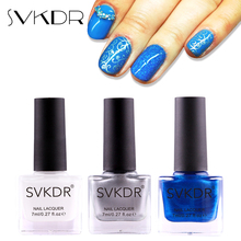 SVKDR New 7ml Stamp Nail Polish & Stamping Polish Nail Art 12 Colors Optional Stamping Nail Lacquer for Nail Manicure Art Tools