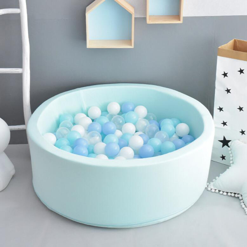 INS Dry Pool Children's Playpen For Baby Soft Sponge Ball Box Infant Thick Round Game Play Fence Ocean Ball Yard Kids Playground