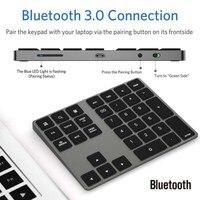 34 34 Keys Bluetooth Wireless Numeric Keypad Mini Numpad with More Function Keys Digital Keyboard For PC Macbook Number Pad Mini (4)