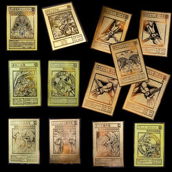 YU GI OH Золотая карта металлическая карта местный японский Золотой глаз белый дракон VOL Edition коллекция карта детская игрушка подарок
