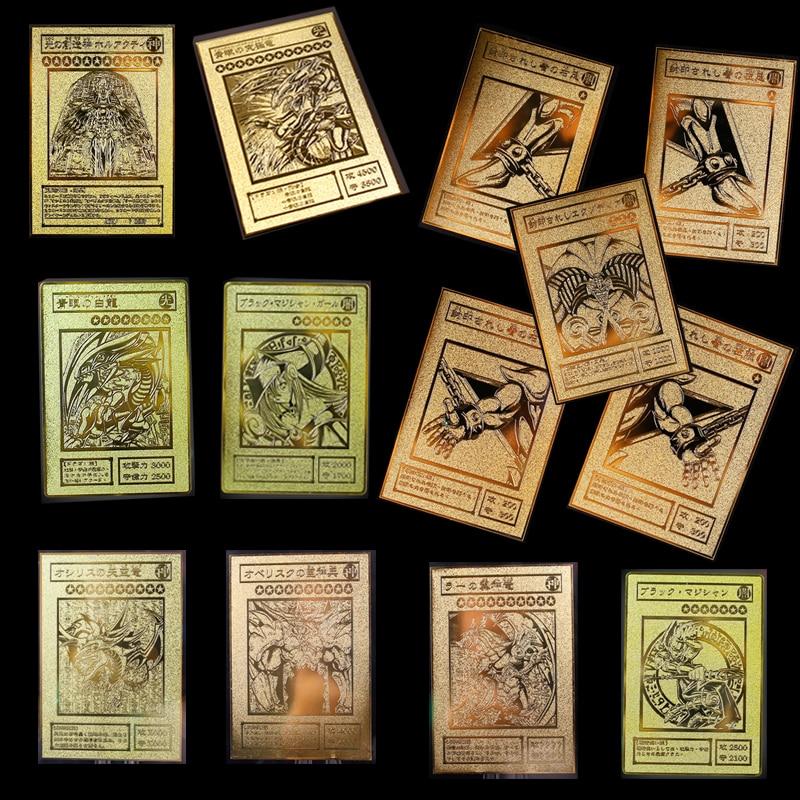 YU GI OH carte en or carte en métal Local japonais oeil d'or blanc Dragon VOL édition carte de Collection enfants jouet cadeau