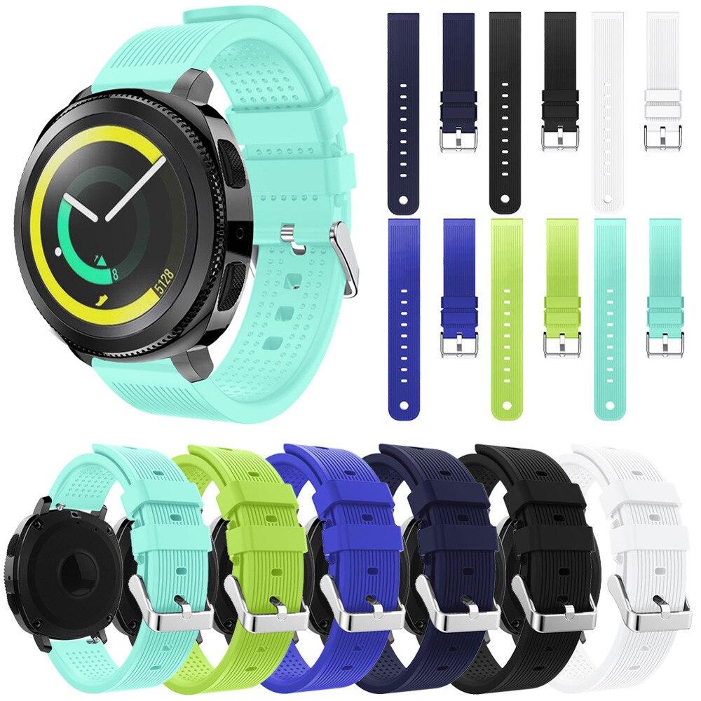 Watch band Silicone Replacement Wristband Wrist Strap For Samsung Gear Sport Sport Soft Wrist Strap N.22 jansin 22mm watchband for garmin fenix 5 easy fit silicone replacement band sports silicone wristband for forerunner 935 gps