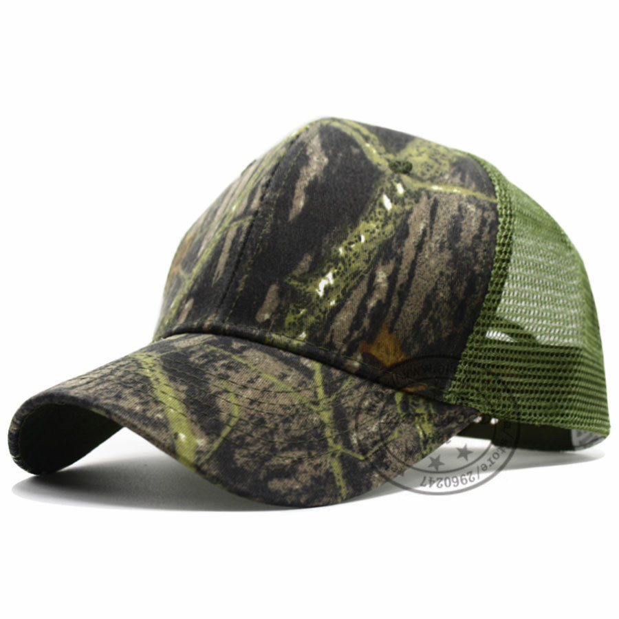 fa762cbc462 LIBERWOOD Mesh Trucker Hat Outdoor Adjustable Baseball Cap Camouflage  woodland tree leaf wild hats for Summer hunting cap unisex-in Baseball Caps  from ...