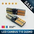 T10 24smd светодиодный светильник лампы автомобилей CANBUS Нет Ошибка 12V 24V супер яркий просвет лампа белый, красный, синий, фиолетовый, оранжевый ...