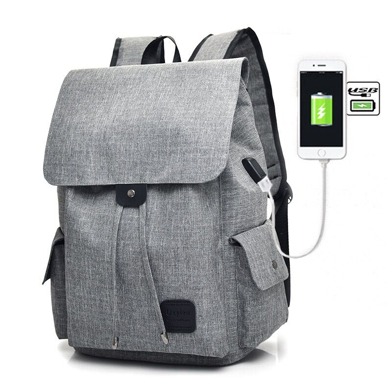 2017  15.6inch Laptop Backpack With USB Charging Port, iCasso Lightweight Functional Durable Nylon Travel Notebook Computer B