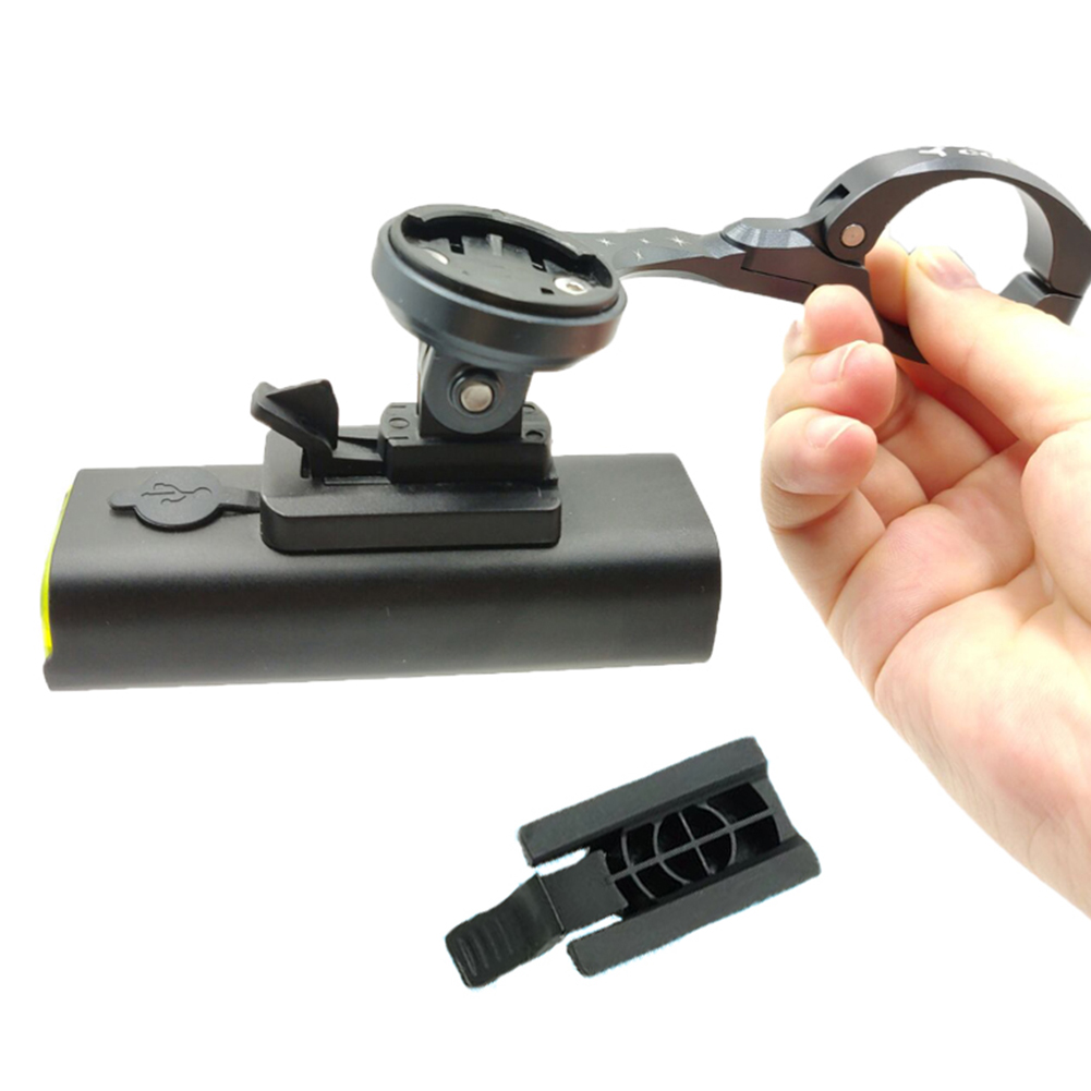 Flashlight Lamp Mount Portable Bracket Convenient Extender <font><b>Bike</b></font> <font><b>Light</b></font> <font><b>Holder</b></font> Durable Connect Adapter Firmly Easy Install Black image