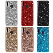 Phone Case For Huawei P30 Lite Nova 4E Silicon Bling Glitter Crystal Sequins Soft TPU Back Cover 4 fundas