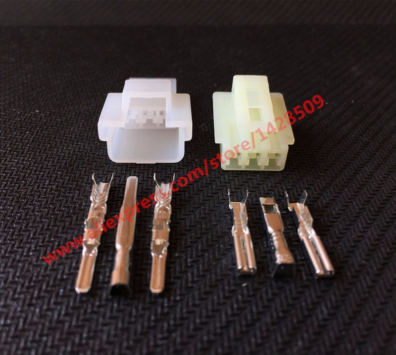 10 Sets Sumitomo 6090 1131 6090 1136 3 Pin Auto Wire Connector Female And Male Electrical