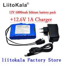 Liitokala Taşınabilir Süper Şarj Edilebilir lityum iyon batarya paketi kapasitesi DC 12 V 12.6 v 6800 mah pil CCTV Kamera Monitör