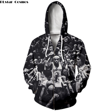 71512bbb9c60 PLstar Cosmos New Fashion basketball zip hoodies celebrity Stephen Curry LeBron  James Print 3d shirt