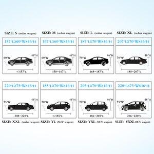 Image 5 - Универсальные чехлы для автомобиля снежная пыль Защита от солнца УФ тени темно синий Размер 9 размеров авто уличная Защитная крышка для автомобиля