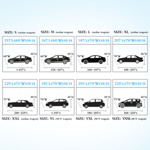 Image 5 - Universal Full Car Covers Snow Ice Dust Sun UV Shade Cover Dark Blue Size 9 Sizes Auto Car Outdoor Protector Cover