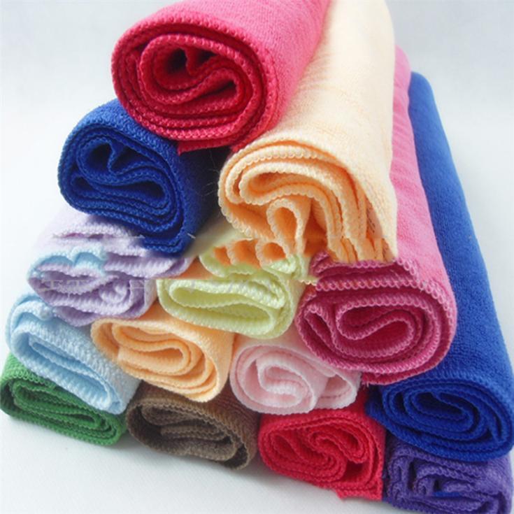 New 24.5cmX 23.5cm 10pcs 24.5*23.5cm Square Luxury Soft Fiber Cotton Face Towel House Cleaning