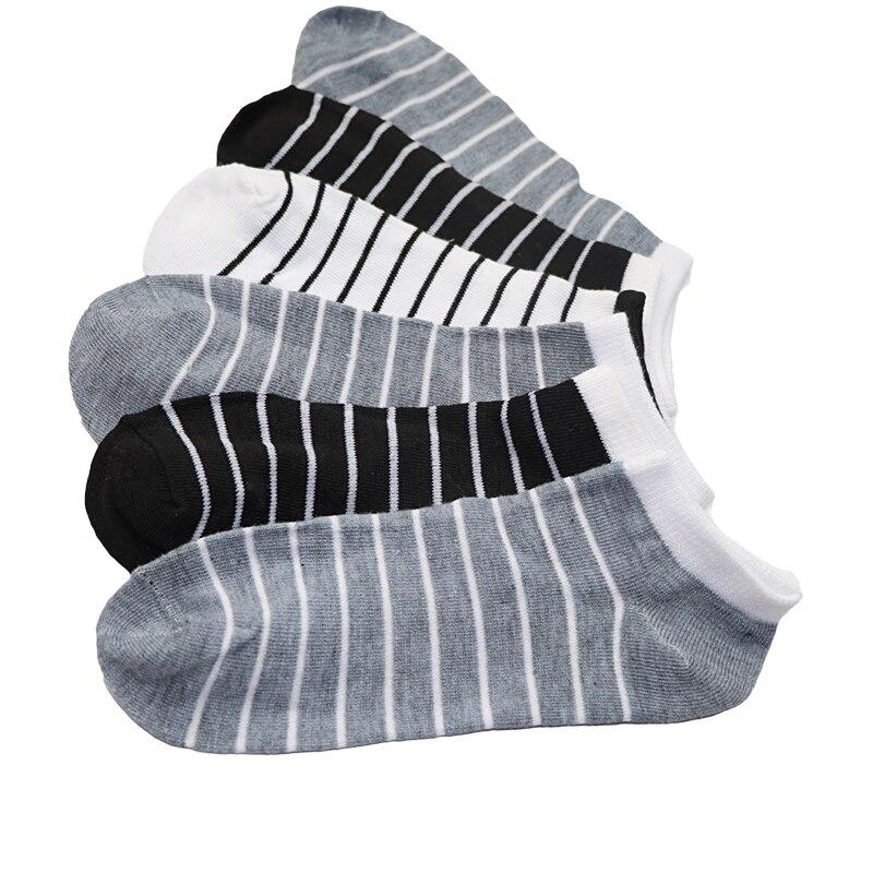10pair Summer New Men Brand Socks Cotton Stripe Business Short Socks High Quality Men Male Dress Socks Calcetines Hombre