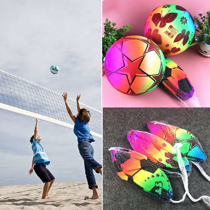 PVC Ball Party Decor Rainbow Volleyball Outdoor Sports <font><b>Toy</b></font> <font><b>Beach</b></font> <font><b>Children</b></font> Gift image