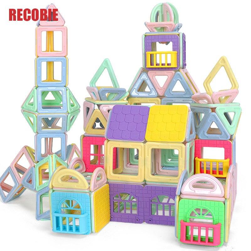 110pcs Big Size DIY Magnetic Blocks Magnetic Constructor Kids Magnet Designer For Children Gift Educational Toys For Boy qw0025